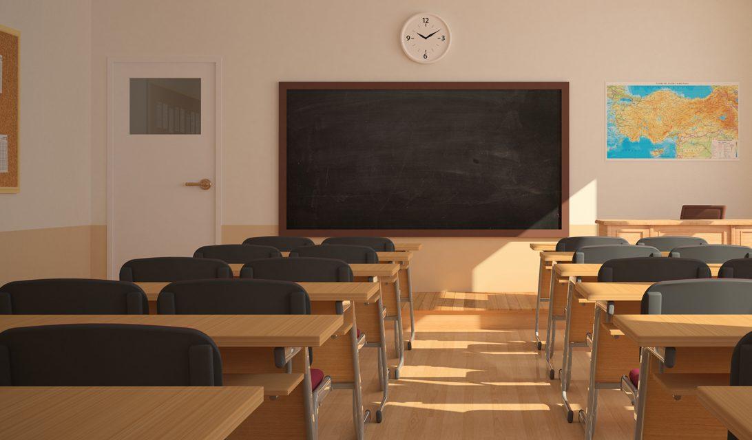 Classe vuota scuola chiusa